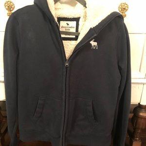 Boys Abercrombie Sherpa lined jacket